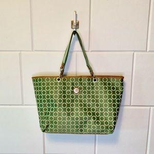 Tommy Hilfiger Tote Bag Shoulder Purse Green White
